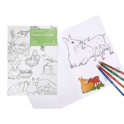 Nature Colours Colouring Book