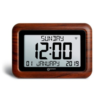 Radio controlled wood effect clock