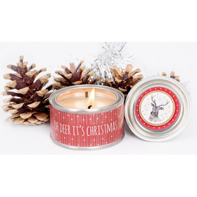 Oh deer it's christmas candle