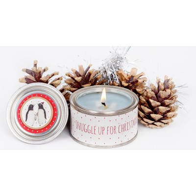 Snuggle up for christmas candle