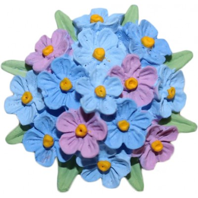 Hand-Painted Forget-Me-Not Brooch
