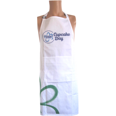 Cupcake Day apron green