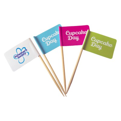 Cupcake Day Cake flags