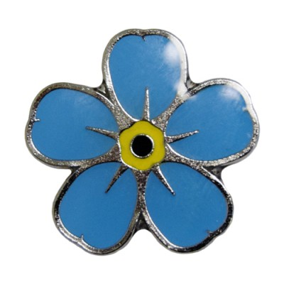 Flower pin badge x 10