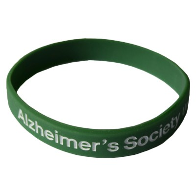 Branded wristband - dark green