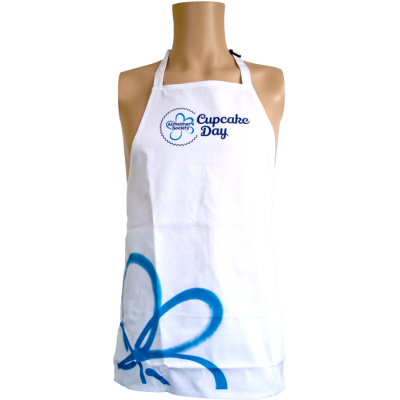 Cupcake Day child apron blue
