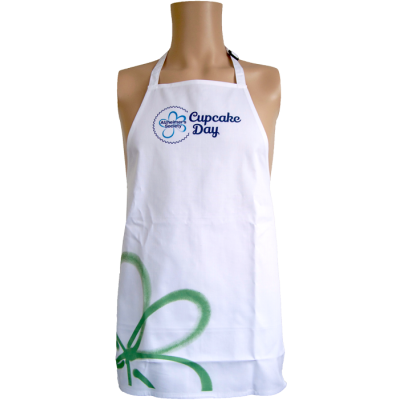 Cupcake day child apron green