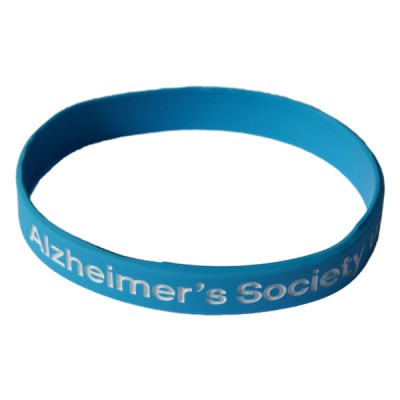 Branded wristband - light blue