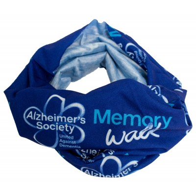 Memory Walk dog scarf - blue