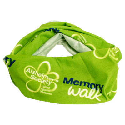 Memory Walk dog scarf - green