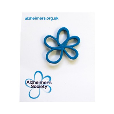 Forget-me-not pin badge