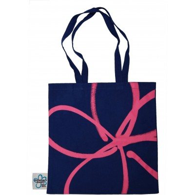 Branded dark blue tote bag