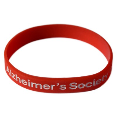 Branded wristband - red