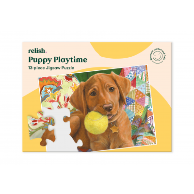 13 Piece Jigsaw Puzzle - Puppy Playtime