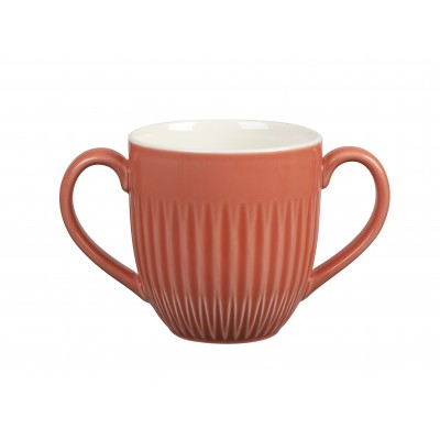 Royal Doulton Two Handled Mug Red