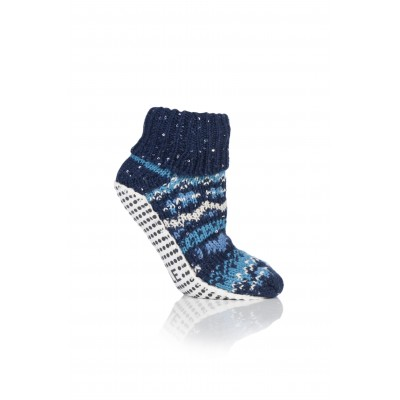 Amanda Slipper Socks in Midnight