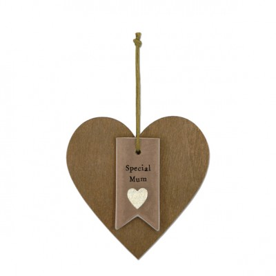 Wooden Hanging Heart - Special Mum