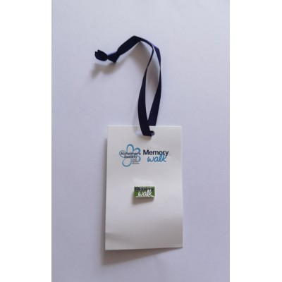 Memory Walk Tag and Pin Badge