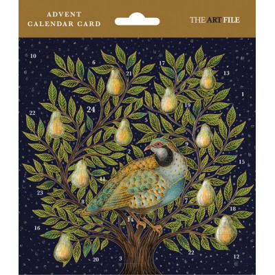 Partridge Advent Calendar Card