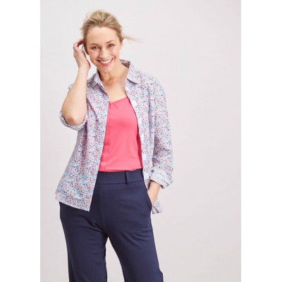 Charlie Floral Velcro Shirt - Royal Blue