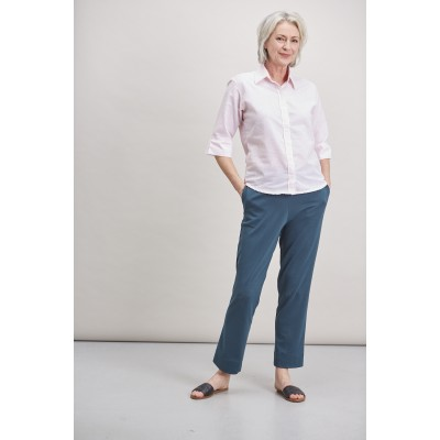 Flavia Ponte Straight Leg Pull On Trouser - Forest