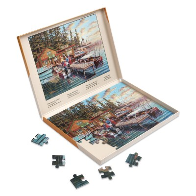 63 Piece Jigsaw Puzzle - Lakeside Vacation