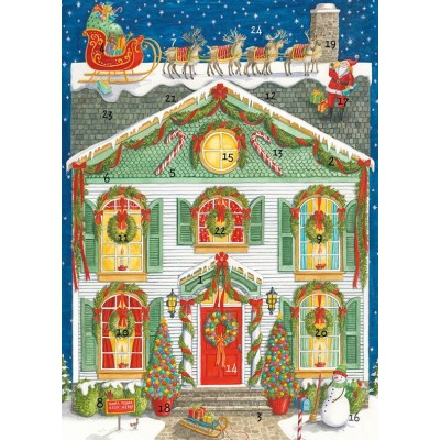 Mini home for christmas advent card