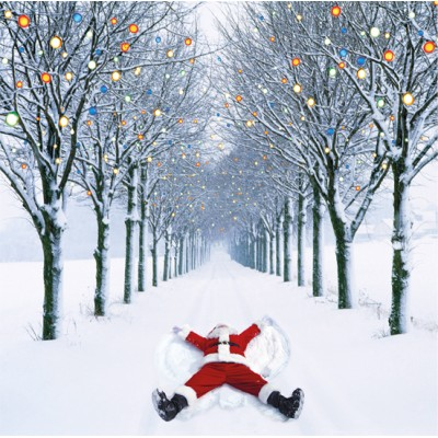 Santa Snow Angel Cards, Pack of 10