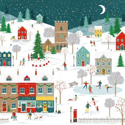 Winter Scene Cards, Pack of 10