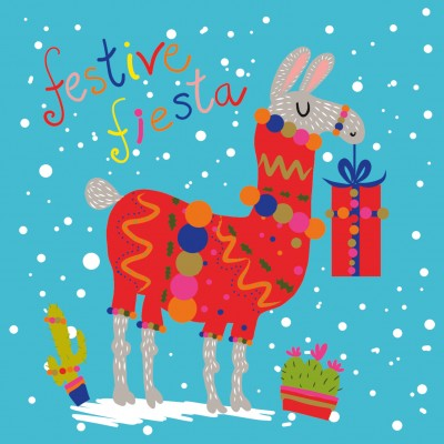 Festive Llama Cards, Pack of 10