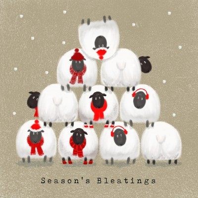 Christmas Sheep Cards, Pack of 10