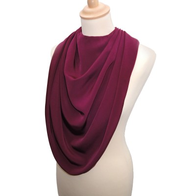 Pashmina Style Clothes Protector - Burgandy