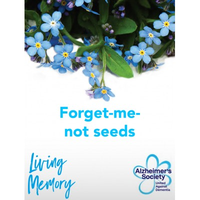 In Memory forget-me-not seed pack