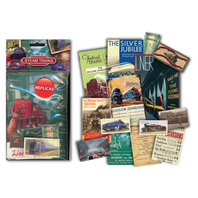 Steam Trains memorabilia packs