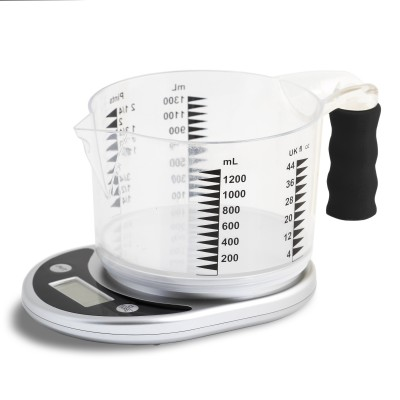 Talking kitchen scale and jug