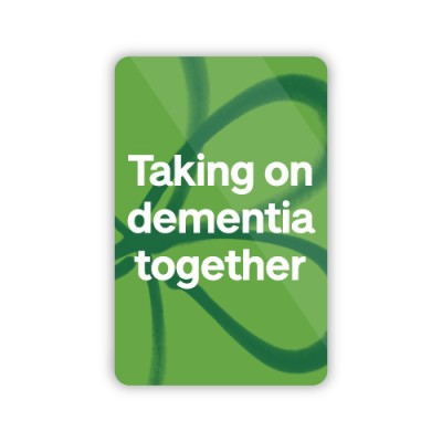 Taking on dementia together fridge magnet
