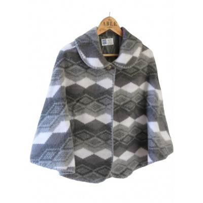 Lilly Knitted Cape - Charcoal