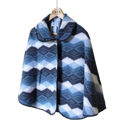 Lilly Knitted Cape - Seaspray Blue