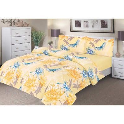 Waterproof duvet cover range- Yellow water lily
