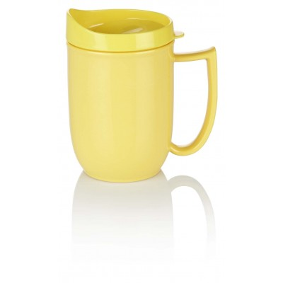 Yellow mug with feeder lid