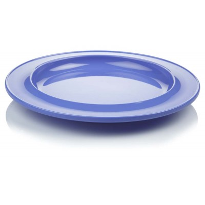 Blue dining plate