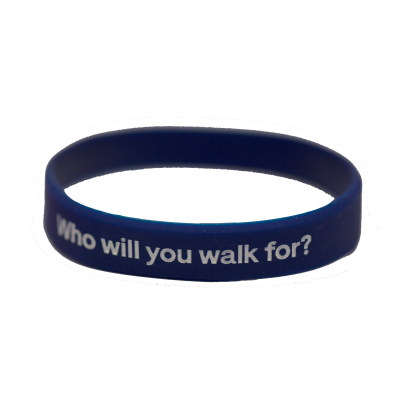 Memory Walk Silicon Wristband - Blue