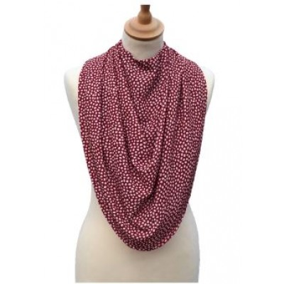Pashmina Style Clothes Protector - Dotted Burgandy