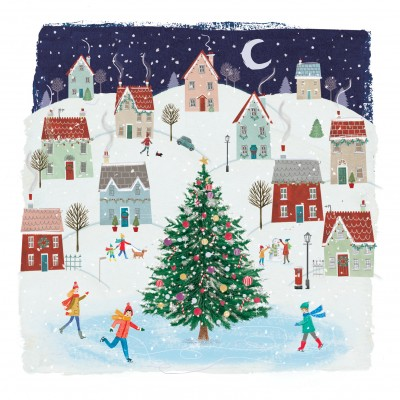 Christmas Village Cards, Pack of 10