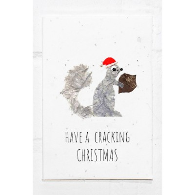 Eco Seed Christmas Squirrel  - Single Card