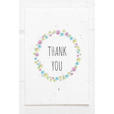 Eco Seed Thank you Flower  - Single Card
