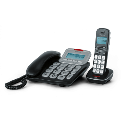 Corded and Cordless Big Button Phone Set