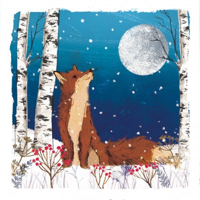 Fox and Moon Cards, Pack of 10