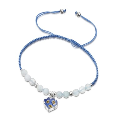 Forget-me-not Heart Gemstone Bracelet