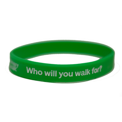 Memory Walk Silicon Wristband - Green